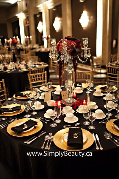gold red and black decoration real weddings marilena and tony at the americana conference. Black Bedroom Furniture Sets. Home Design Ideas