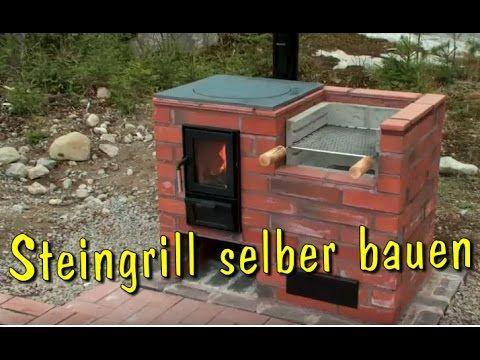 Grill selber bauen aus Stein | Steingrill-Kamin aus Ziegelsteinen mauern | Holzkohlegrill machen - YouTube