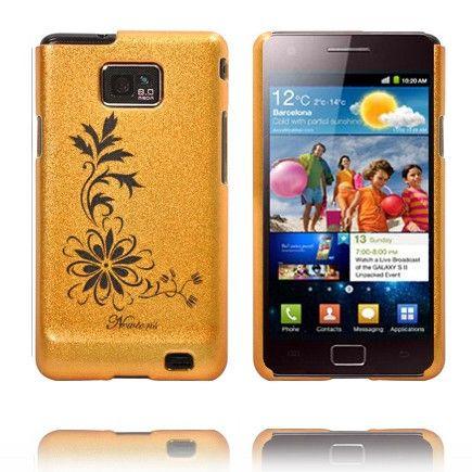Kromi Kukka (Oranssi) Samsung Galaxy S2 Suojakuori