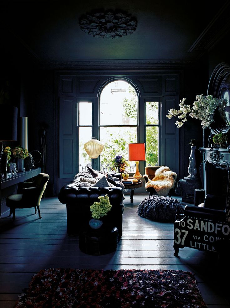 lighting for dark rooms. love the contrast of light and dark in this room furniture has so much to lighting for rooms r