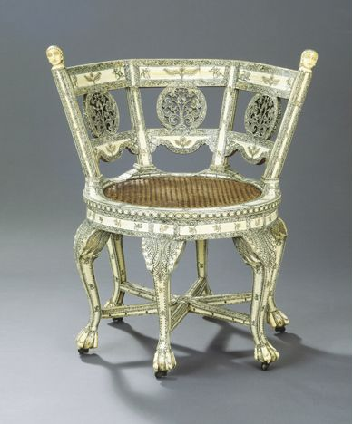 Burgomaster (revolving) Chair, India ca. 1750-60