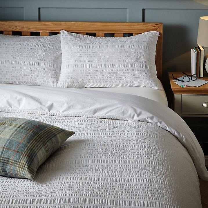 Buy John Lewis Kate Seersucker Duvet Cover and Pillowcase Set, King Online at johnlewis.com
