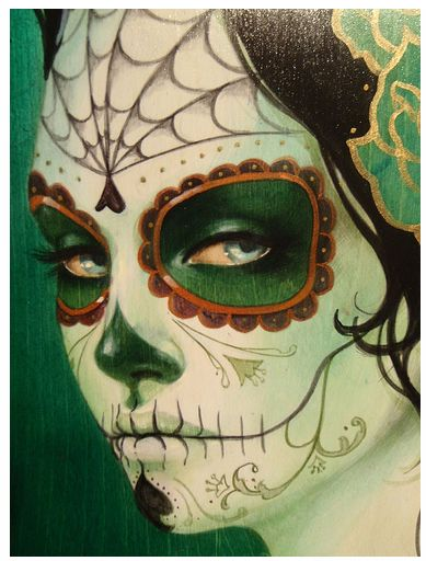 Sylvia Ji: Day of the Dead face paint