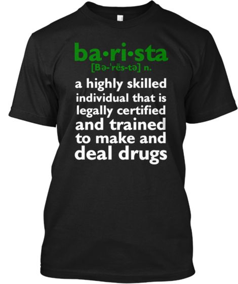 BARISTA DEFINITION | Teespring