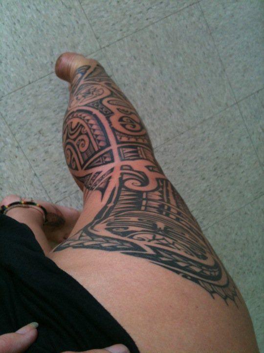 polynesian tattoo  tahitian tattoo  woman leg tattoo #tattoosbybong  #808  #HILIFE