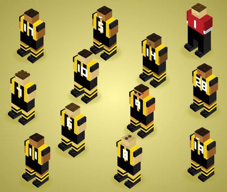 Lego's Soccer Team  #lego #soccer #borussia #futbol