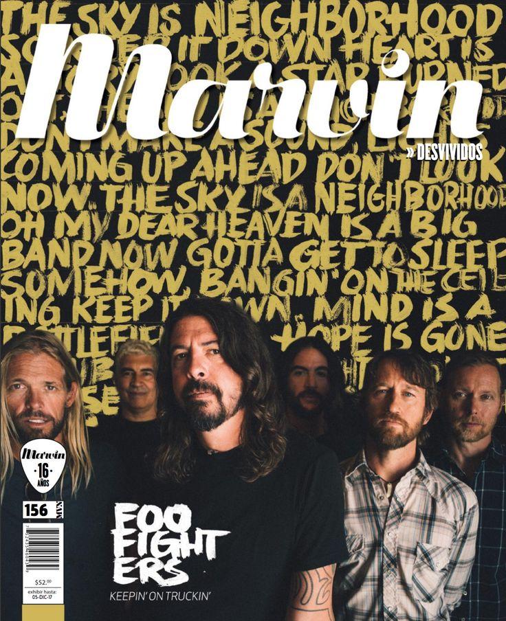 Marvin 156 Foo Fighters | Desvividos  #editorial #Desvividos #revistamarvin #Foofighters  #lettering #calligraphy #handlettering #editorialdesign #brushpen #graphicdesign #letteringintervention