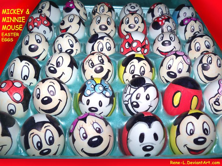 MIckey n Minnie Mouse Easter Eggs by Rene-L.deviantart.com on @deviantART