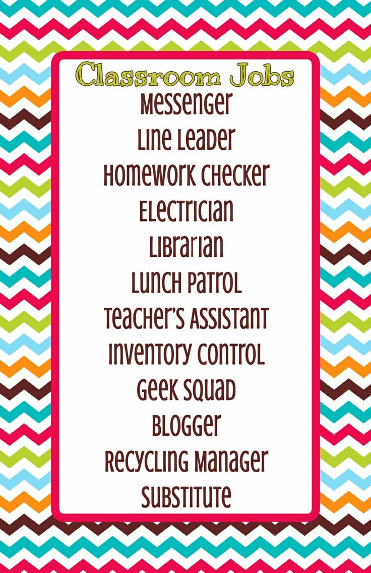 Classroom Job Ideas For 4th Grade : Best fourth grade images on pinterest classroom decor