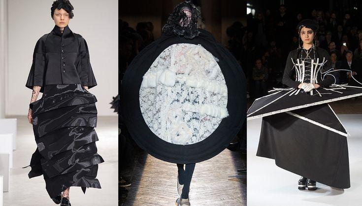Tendance robes concept, défilés Junya Watanabe, Comme des Garçons et Yohji Yamamoto