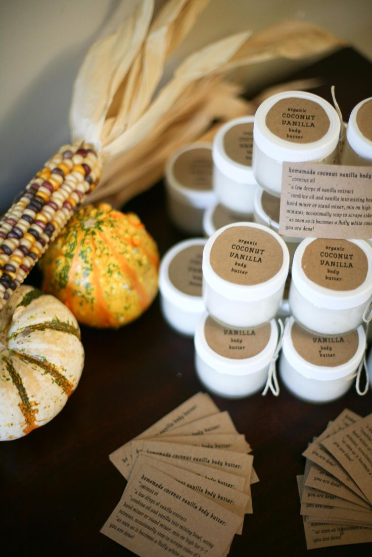 Great gift idea for teachers, or family members: Homemade coconut vanilla body butter, just 2 ingredients!