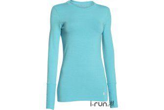 Under Armour Tee-shirt ColdGear Infrared Crew W pas cher - Vêtements femme running Manches longues en promo