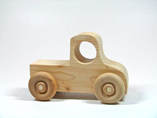 Childrens Wooden Toy Truck by littlewoodenwonders on Etsy, $6.00