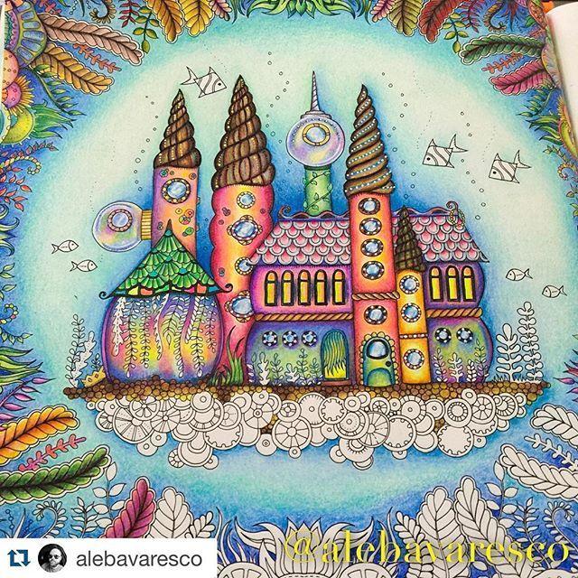 Ocean Scenes Coloring Books Johanna Basford Prismacolor Atlantis Garden Clever