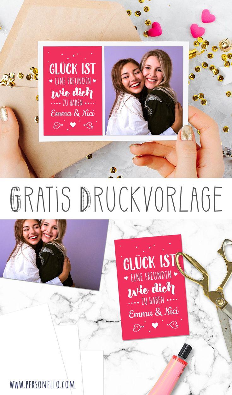 DIY #Geschenkkarte für die beste Freundin mit …