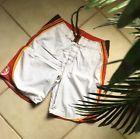 ☺✔ BILLABONG MENS Size 32 BOARDSHORTS #Surf Swim NWOT #White Multi-Color Trim Top Seller http://ebay.to/2vrMtWN
