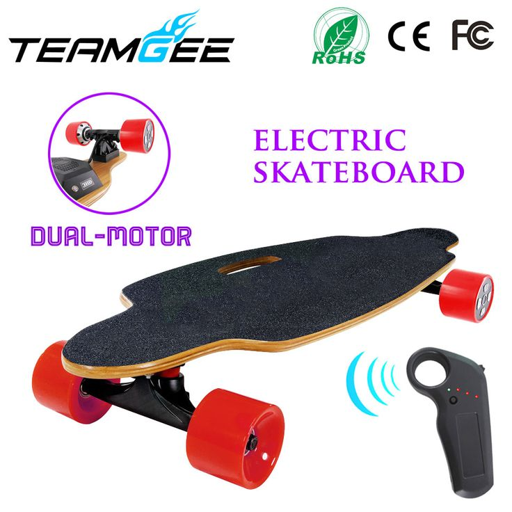 900W Dual Motor Electric Longboard Skateboard 4 wheels Electric Skate boards With Remote Controller PU Wheel Size 83*52mm //Price: $320.95//     #onlineshop