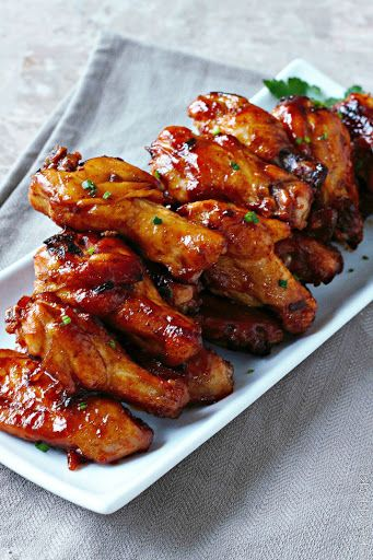 Spicy Maple Chicken Wings With Maple Syrup, Sauce, Fresh Chives, Low Sodium Soy Sauce, Ground Mustard, Cayenne Pepper, Chicken Wings