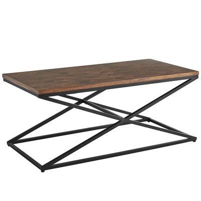 Chevron Coffee Table Natural 44W X 22D 1875H Mixed TablesLiving Room