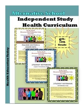 """Alternative School / Independent Study Curriculum: 50-Lessons for Grades 6-12.  You've got to check out this unique program created by a 19-year veteran Health teacher for teachers!!  These lessons are taken directly from my """"Best Health Curriculum,"""" which is the #1 selling Health curriculum on the whole TeachersPayTeachers website.  Here are the units:    1. Self-Improvement: Becoming a Better Me     2. Stress     3. Nutrition and Fitness     4. Substance Use     5. Relationships     6. Sex…"""