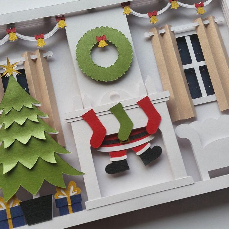 how to make a christmas shadow box