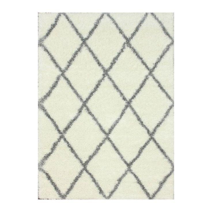 nuLOOM Gray & Off-White Shag Area Rug