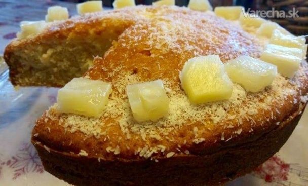 Ananásovo-kokosový koláč