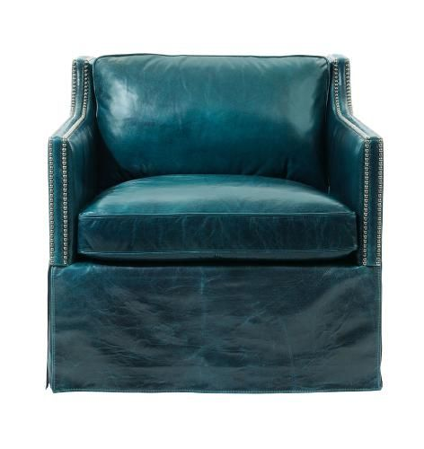 Delano Chair | Bernhardt N1808 Leather Shown: 261-043 W 33 D 36 H 32 SH 18 Ah 26 SD 23.5 BA 28.5 #Skirted #Sweep Arms $1667.50 Leather $2430.00 Swivel $1805 Leather $2570
