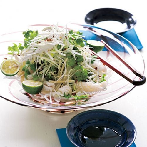 ゆでイカと長ねぎの中華風サラダ