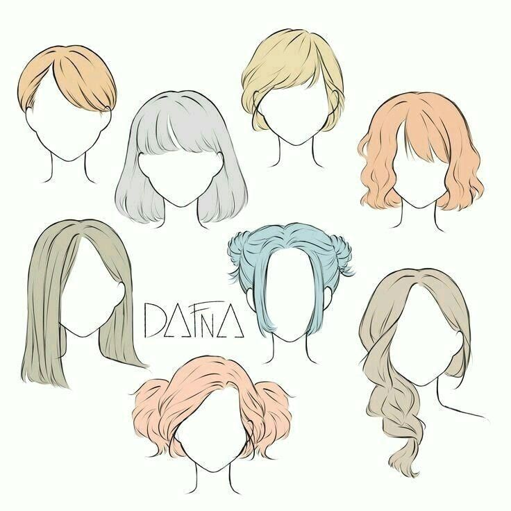 Hairstyle Drawing Hairstyle Collection Drawing Drawing Hair Collection Drawing Hair H In 2020 Drawing Hair Tutorial How To Draw Hair Girl Hair Drawing