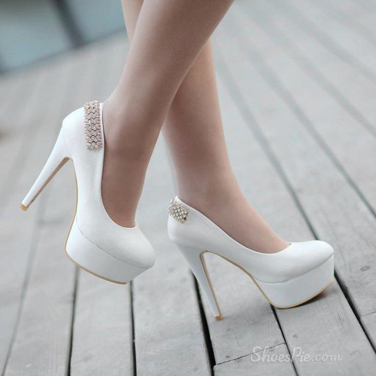 Elegant Platform Stiletto Heels with Rhinestone 34 must have ..very classy and sexy