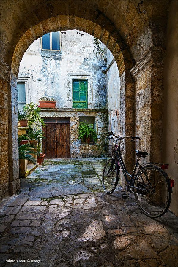 Street in Scorrano, Lecce, Italy