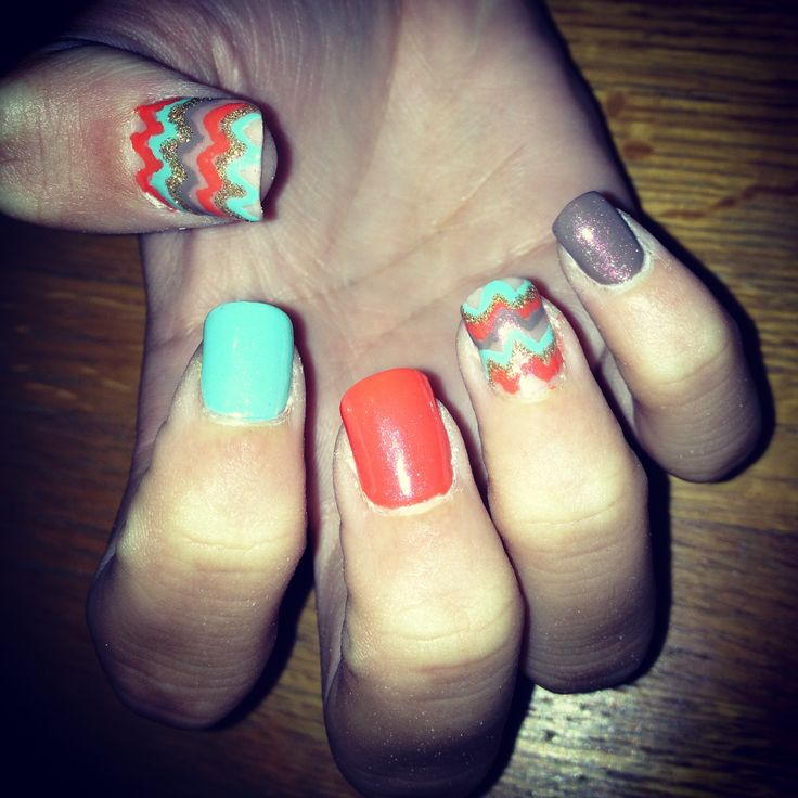 27 best nails images on pinterest nail art ideas accent nails chevron prinsesfo Images