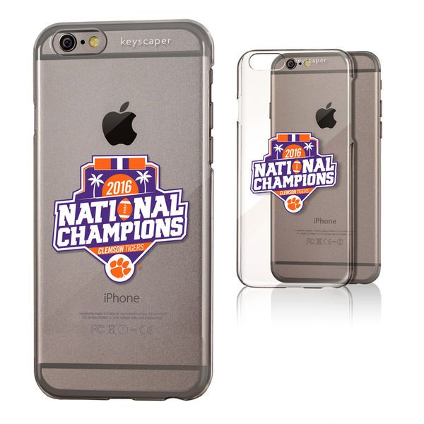 """Clemson Tigers College Football Playoff 2016 National Champions 4.7"""" iPhone 6/6s Clear Case - $19.99"""