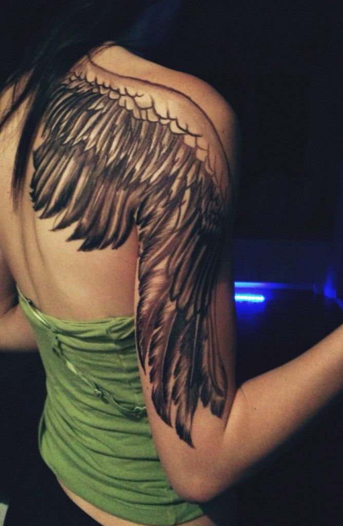Best 25 angel tattoo arm ideas on pinterest wing tattoo for Shoulder and arm tattoos