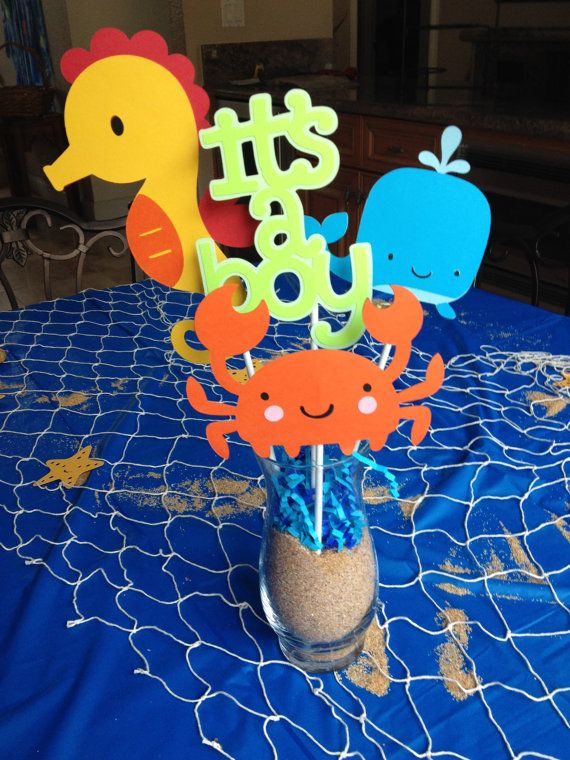 Under the Sea Baby Shower Centerpieces - IN STOCK AND READY TO SHIP.