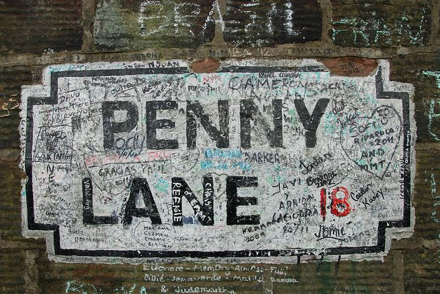 Penny Lane, Liverpool, England---Took the Beatle tour visiting many sites of the famed group's hometown. Loved seeing Eleanor Rigby's grave, Strawberry Field, the Cavern Club along with their boyhood homes. 2014