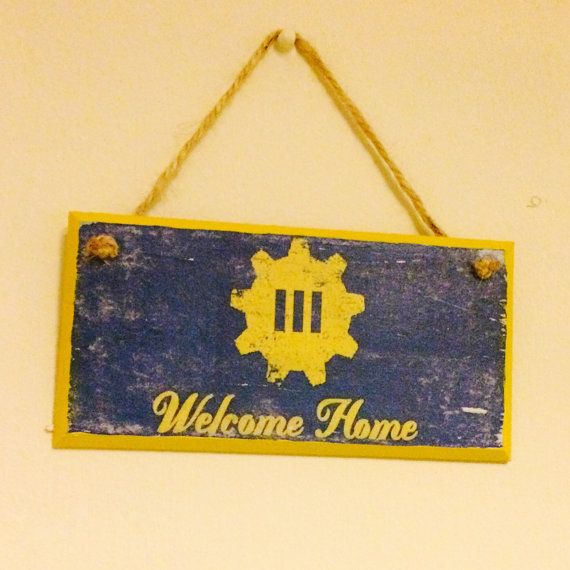 Hey, I found this really awesome Etsy listing at https://www.etsy.com/listing/255188488/welcome-home-fallout-4-inspired-wall