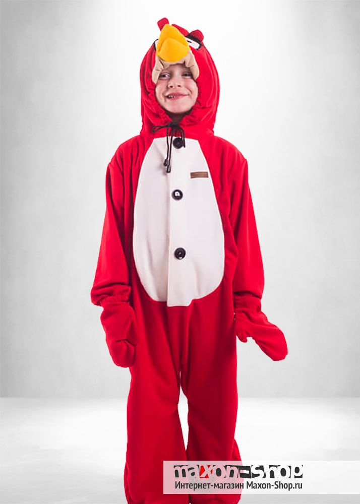 Пижама кигуруми  quot Энгри Бёрд quot  для детей от 3 лет.Костюм сердитой  птички b5ce251785c8c