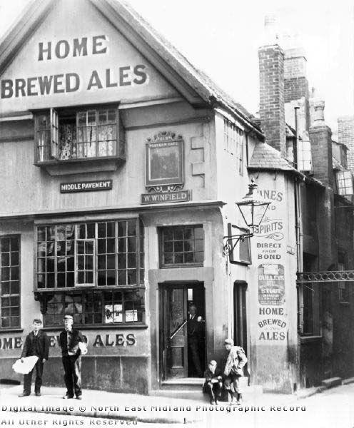 Old Postern Gate Inn, Middle Pavement, Nottingham, c 1895