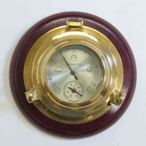 Porthole Barometer Thermometer