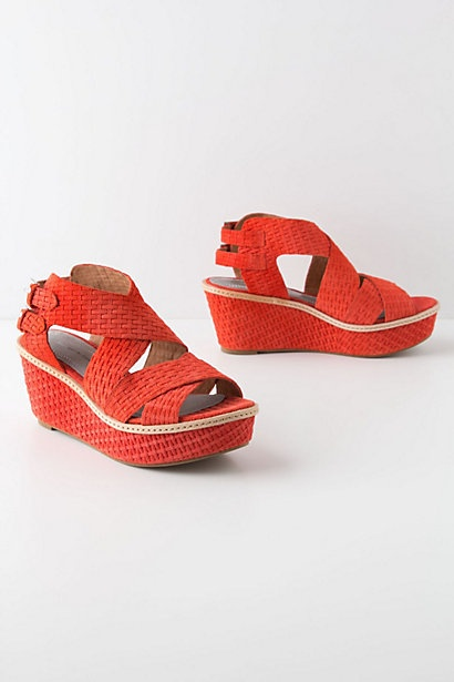 Coral Boardwalk Wedges - Anthropologie.com