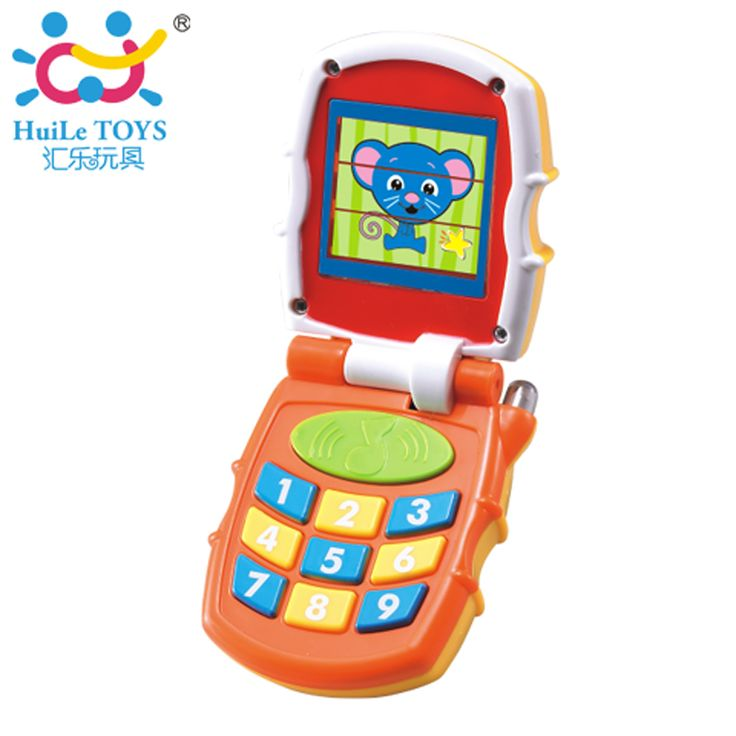 Free Shipping New Baby Toys Baby Kids Learning Study Musical Sound Brilliant Basics Flip Phone Toy 6 Months + Children Xmas Gift