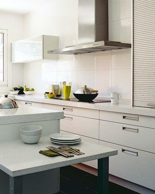 Cocinas azulejos rectangulares blancos buscar con google cocinas pinterest cocinar - Azulejos rectangulares ...