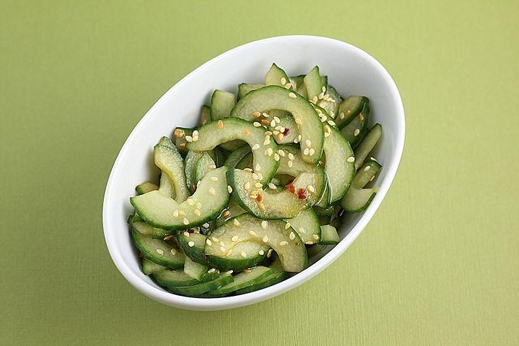 Sesame-Soy Cucumber Salad | Pinterest Party Fun | Pinterest
