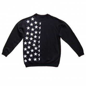 Half Starried Unisex Black sweatshirt