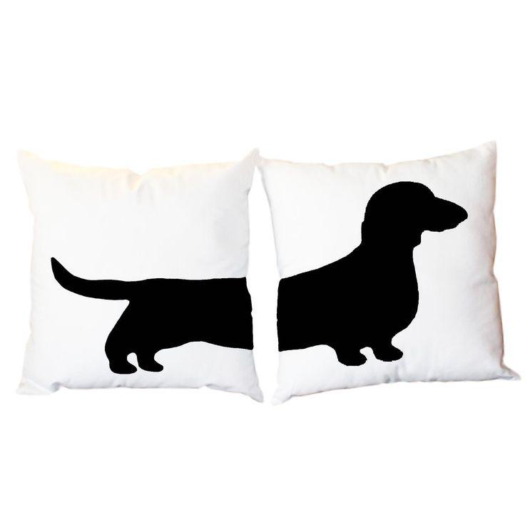 2 Modern Dachshund Pillows - Wiener Dog Home Decor. $61.00, via Etsy.