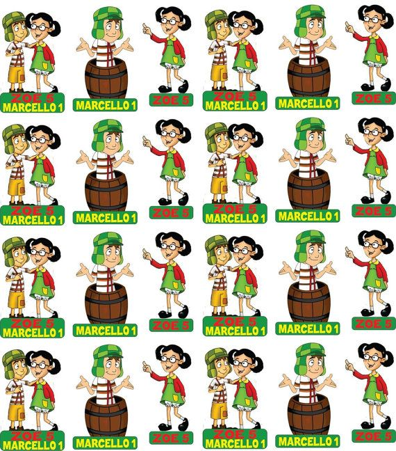 Chavo y Chilindrina cupcake toppers custom order by ScozShop