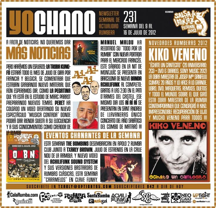 YOCHANO nº231, el Newsletter de la Rumba Catalana