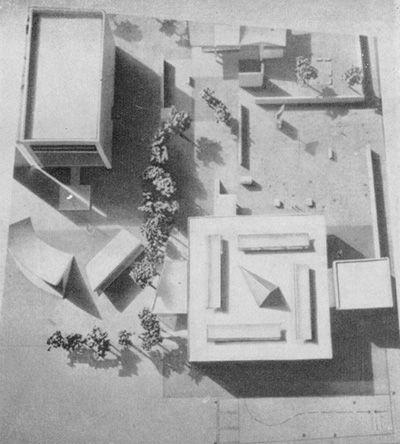 Ле Корбюзье / Le Corbusier. Национальный музей Искусства (National Museum of Western Art), Токио, Япония. 1957-1959. Макет